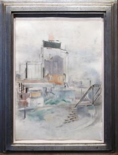 Preston Dickinson Grain Elevator Omaha Nebraska 1924 - 35578
