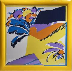 Pretty colors Michelangelo decorative framed scarf - 2086191