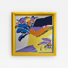 Pretty colors Michelangelo decorative framed scarf - 2086192