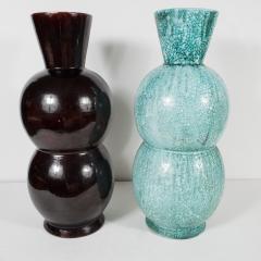 Primavera Atelier du Printemps Large Black and Blue Green Primavera vases - 1466942
