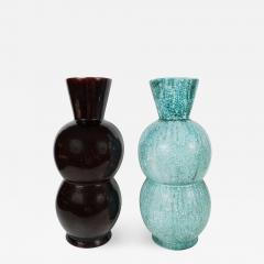 Primavera Atelier du Printemps Large Black and Blue Green Primavera vases - 1467403