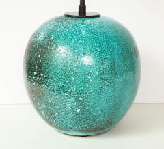 Primavera Atelier du Printemps Large Round Vase Lamp in Blue Green Glaze - 998842