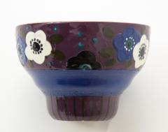 Primavera Atelier du Printemps Primavera Blue Purple and Cream Ceramic Bowl in the Style of Sue et Mare - 1224199