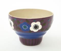 Primavera Atelier du Printemps Primavera Blue Purple and Cream Ceramic Bowl in the Style of Sue et Mare - 1224200