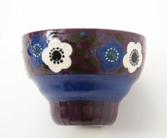 Primavera Atelier du Printemps Primavera Blue Purple and Cream Ceramic Bowl in the Style of Sue et Mare - 1224201