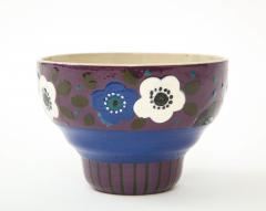 Primavera Atelier du Printemps Primavera Blue Purple and Cream Ceramic Bowl in the Style of Sue et Mare - 1224203