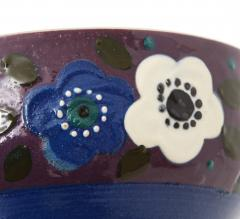 Primavera Atelier du Printemps Primavera Blue Purple and Cream Ceramic Bowl in the Style of Sue et Mare - 1224205