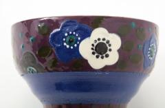 Primavera Atelier du Printemps Primavera Blue Purple and Cream Ceramic Bowl in the Style of Sue et Mare - 1224207