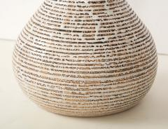 Primavera Atelier du Printemps Primavera gourd shape vase with horizontal lines - 1416120