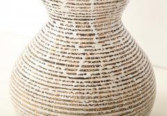 Primavera Atelier du Printemps Primavera gourd shape vase with horizontal lines - 1416121