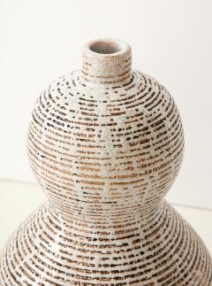 Primavera Atelier du Printemps Primavera gourd shape vase with horizontal lines - 1416123