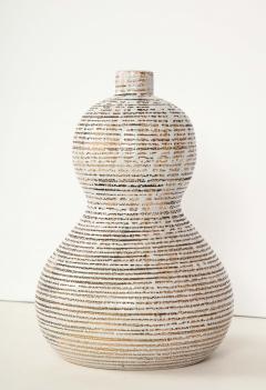 Primavera Atelier du Printemps Primavera gourd shape vase with horizontal lines - 1416125