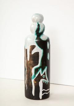 Primavera Atelier du Printemps Rare vase with primitive design by Claude Levy - 1209597