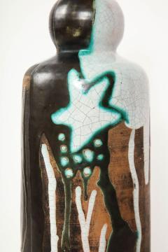 Primavera Atelier du Printemps Rare vase with primitive design by Claude Levy - 1209601
