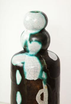 Primavera Atelier du Printemps Rare vase with primitive design by Claude Levy - 1209604