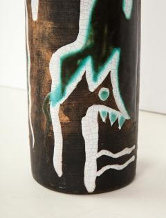 Primavera Atelier du Printemps Rare vase with primitive design by Claude Levy - 1209605