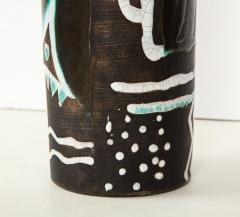 Primavera Atelier du Printemps Rare vase with primitive design by Claude Levy - 1209606