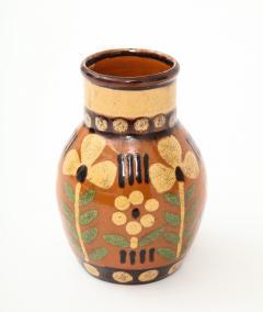 Primavera Atelier du Printemps Signed Primavera Ceramic Vase from Soufflenheim France  - 1224243