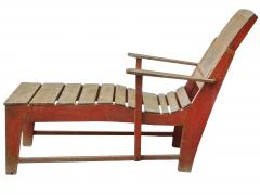 Primitive Painted Chaise - 1061196