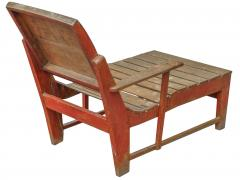 Primitive Painted Chaise - 1061202