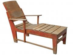 Primitive Painted Chaise - 1061204