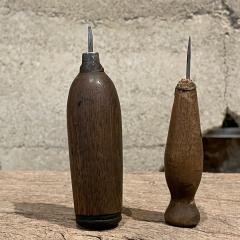 Primitive Wood Ice Pick Tools Weathered Worn Antique Ice Box Utensil - 2083183