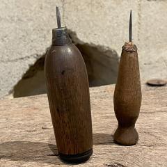 Primitive Wood Ice Pick Tools Weathered Worn Antique Ice Box Utensil - 2083184