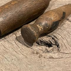 Primitive Wood Ice Pick Tools Weathered Worn Antique Ice Box Utensil - 2083189