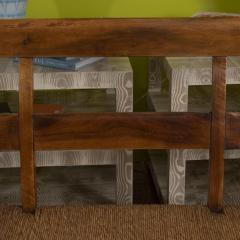 Provencal Bench with Woven Seat - 1100136
