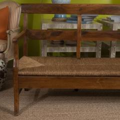 Provencal Bench with Woven Seat - 1100137
