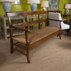 Provencal Bench with Woven Seat - 1100138