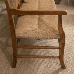 Provencal Bench with Woven Seat - 1100139