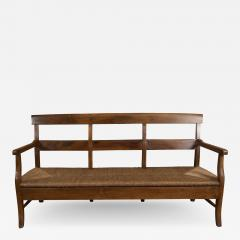 Provencal Bench with Woven Seat - 1100932