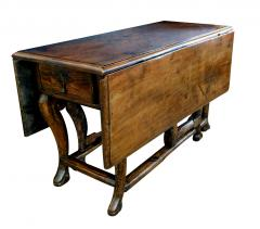 Provincial Portuguese Hardwood Swing Leg Table - 1932547