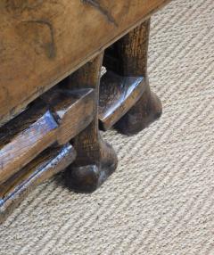 Provincial Portuguese Hardwood Swing Leg Table - 1932548