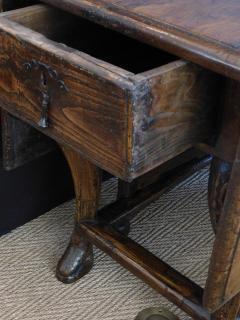 Provincial Portuguese Hardwood Swing Leg Table - 1932549