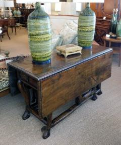 Provincial Portuguese Hardwood Swing Leg Table - 1932550