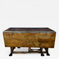 Provincial Portuguese Hardwood Swing Leg Table - 1932868