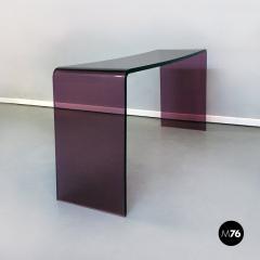 Purple lucite console 1970s - 2034806