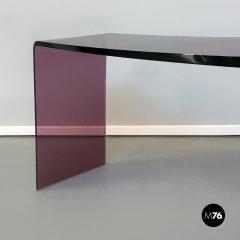Purple lucite console 1970s - 2034807