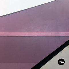 Purple lucite console 1970s - 2034810