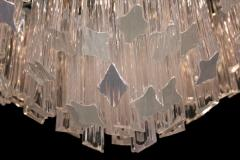 Pyramid Shaped Glass Rod Chandelier by Camer - 774779