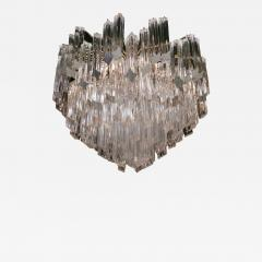 Pyramid Shaped Glass Rod Chandelier by Camer - 777261