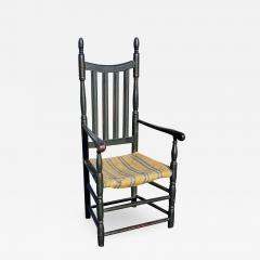 Queen Anne Bannister Back Armchair Connecticut River Valley - 1829523