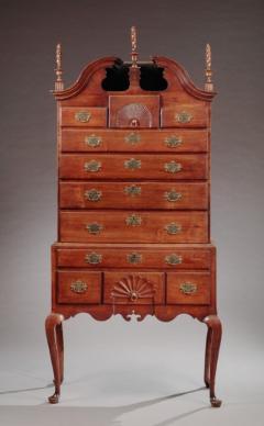 Queen Anne Bonnet Top Highboy - 574204