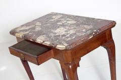 Queen Anne Carved Mahogany Slab Table - 1983632