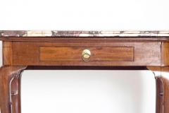 Queen Anne Carved Mahogany Slab Table - 1983641