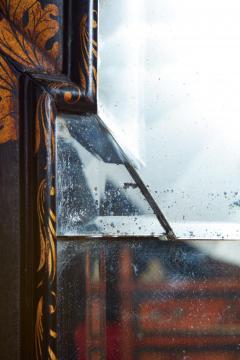 Queen Anne Chinoiserie Cushion Mirror - 1797783
