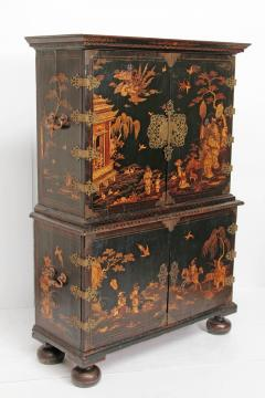 Queen Anne Collectors Cabinet Japanned - 1920561