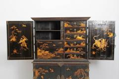 Queen Anne Collectors Cabinet Japanned - 1920563